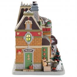 Новогодний сувенир с подсветкой — Домик «Магазин «Макаруны от Марселя»