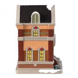 Новогодний сувенир с подсветкой — Домик «Магазин елочных украшений»