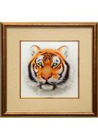 Шелковая картина «Амурский тигр»