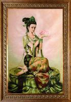 Вышитая картина «Богиня Фея лотоса»