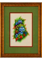 Шелковая картина «Колокольчики»