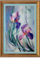 Вышитая картина «Синяя ночь. Ирисы»