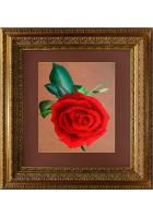 Шелковая картина «Роза»