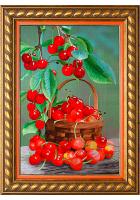 Вышитая картина «Натюрморт с вишней»