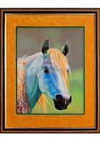 Шелковая картина «Лошадь»
