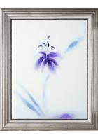 Вышитая картина «Лилия в цвете индиго»
