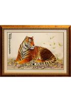 Шелковая картина «Благородный тигр»