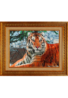 Шелковая картина «Тигр»
