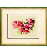Вышитая картина «Цветущая ветка магнолии»