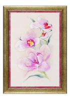 Вышитая картина «Ветка нежной орхидеи»