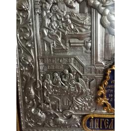 Икона «Ангел Хранитель», подарочная, посеребренная