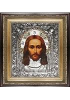 Икона «Спас Нерукотворный», посеребренная