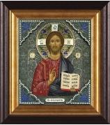 Икона «Господь Вседержитель», посеребренная