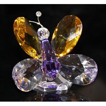 Хрустальная фигурка «Разноцветная бабочка»