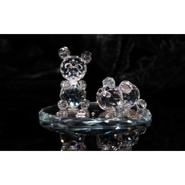Хрустальная фигурка «Пара медвежат»