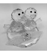 Хрустальная композиция «Пара птичек»
