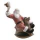 Фарфоровая статуэтка «Санта на коне-качалке»