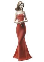 Фарфоровая статуэтка «Девушка в красном платье»