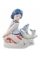 Фарфоровая статуэтка «Знак Зодиака — Рыбы»