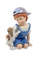 Фарфоровая статуэтка «Мальчик с собачкой»