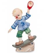 Фарфоровая статуэтка «Клоун на скейтборде»