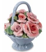 Фарфоровая статуэтка «Цветочная корзина»