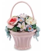 Фарфоровая статуэтка «Цветочная корзинка»