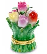 Фарфоровая статуэтка-шкатулка «Цветы»
