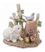Фарфоровая статуэтка «Зайчонок»