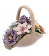 Фарфоровая корзинка «Весенние цветы»