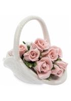 Фарфоровая композиция «Корзинка с розами»
