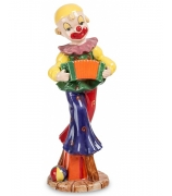 Фарфоровая статуэтка «Клоун с гармошкой»
