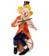 Фарфоровая статуэтка «Клоун, играющий на скрипке»
