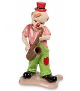 Фарфоровая статуэтка «Клоун, играющий на саксофоне»