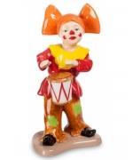 Фарфоровая статуэтка «Клоун с барабаном»