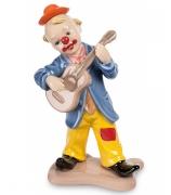 Фарфоровая статуэтка «Клоун, играющий на гитаре»
