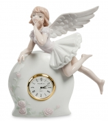 Фарфоровые часы «Мечтающий ангелочек»