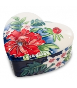 Фарфоровая шкатулка «Маки»