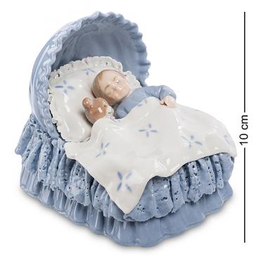Фарфоровая статуэтка «Спящий малыш», ручная работа