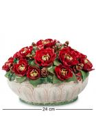 Фарфоровая музыкальная статуэтка «Корзинка с цветами»