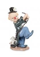 Фарфоровая статуэтка «Клоун с собачкой»