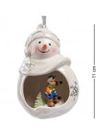 Статуэтка-подвеска «Веселый снеговик»