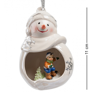 Керамическая подвеска «Веселый снеговик»
