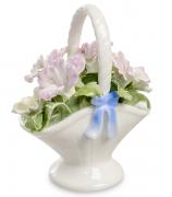 Фарфоровая статуэтка «Корзинка с цветами»