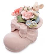 Фарфоровая статуэтка «Мышонок в цветочном ботинке»