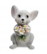 Статуэтка «Мышка с букетом»