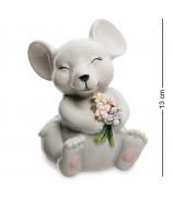 Статуэтка-копилка «Мышка с цветами»