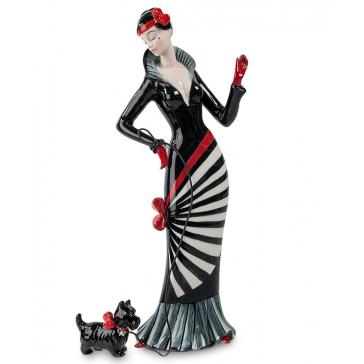 Подарочная статуэтка из фарфора «Дама с собачкой»