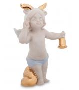 Фарфоровая статуэтка «Рождественский ангел с колокольчиком»