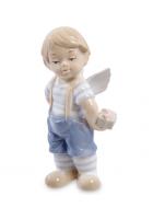 Фарфоровая статуэтка «Ангелочек-мальчик»
